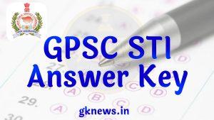 GPSC STI Answer Key 2021
